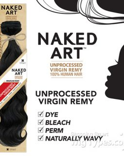 naked brazilian human hair